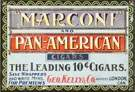 """Marconi"" & Pan American Tin Cigar Sign"