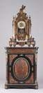French Boule clock w/ base cabinet
