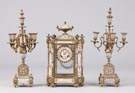 French 3pc. Clock Set