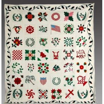 Rare 19th Cent. NY State Friendship Quilt