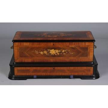 Fine Inlaid Cylinder Comb Music Box
