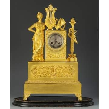 Early 19th Cent. Fine Fire Gilt Bronze Neoclassical Clock