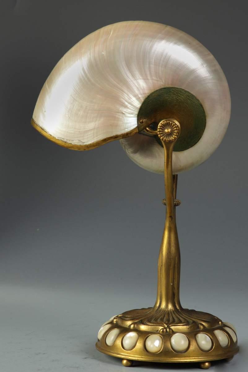 Fine Tiffany Studios Nautilus Lamp Cottone Auctions