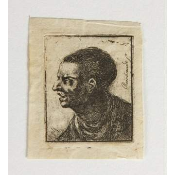 Correction: Jean Pierre Norblin de la Gourdine Etching (French 1745-1830), man facing left