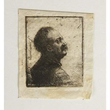 Correction: Jean Pierre Norblin de la Gourdine Etching (French 1745-1830), man facing right