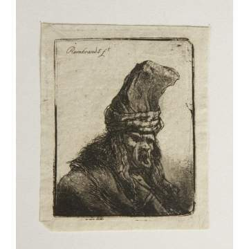 Correction: Jean Pierre Norblin de la Gourdine Etching (French 1745-1830), man w/hat