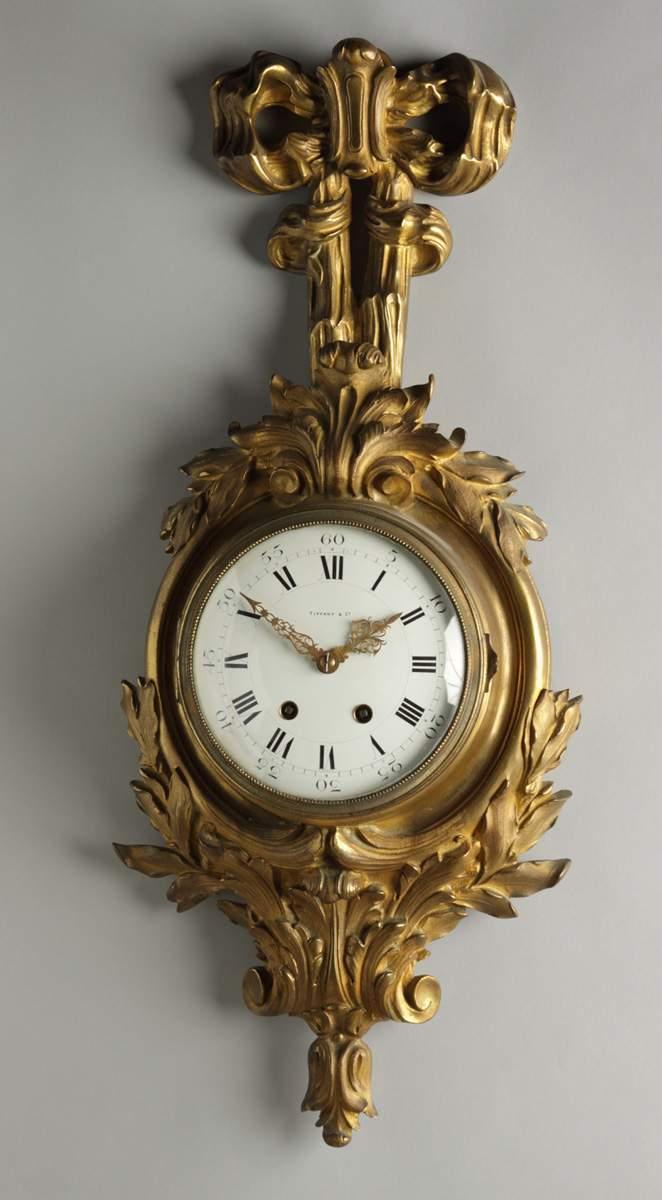 Gilt Bronze Wall Clock