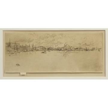 "James McNeil Whistler (1843-1903)  ""Long Venice"" Etching"