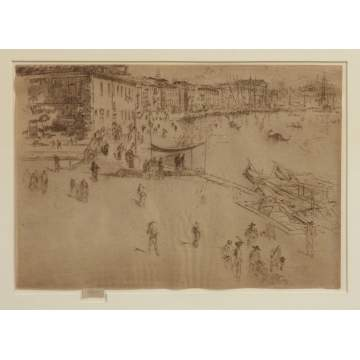 "James McNeil Whistler (1843-1903) ""The Riva, No. 2"" Etching"