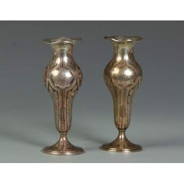 A Fine Pair of Tiffany & Co. Makers Sterling Vases