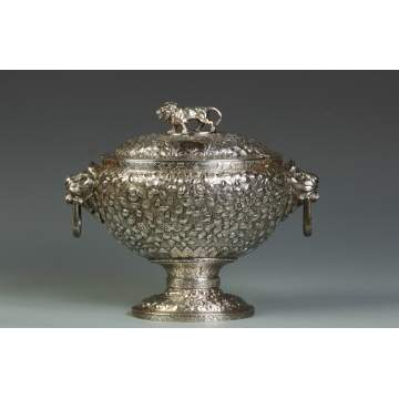 Sterling Repousse Soup Tureen