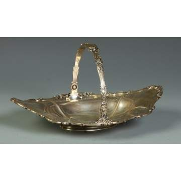 Gorham Sterling Handled Basket w/Repousse Work & Engraving