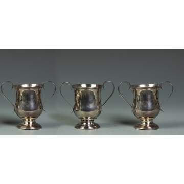 Group of 3 Gorham Coin Silver Handled Cups