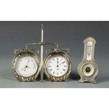 2 Silver Barometers