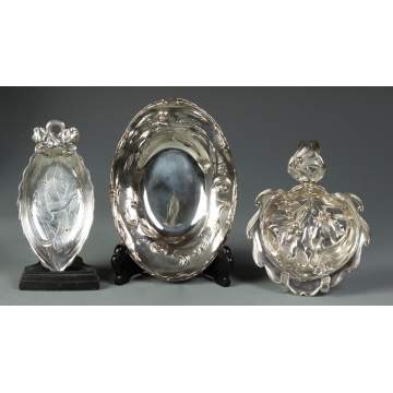 3 Sterling Dishes
