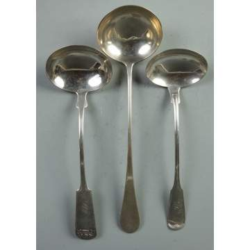 3 Coin Silver Ladles