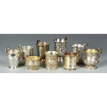 Group of 9 Child's Cups