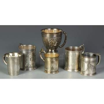 Group of 6 Various Cups
