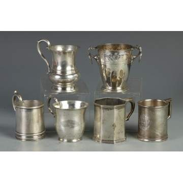 Group of 6 Silver Children's Cups