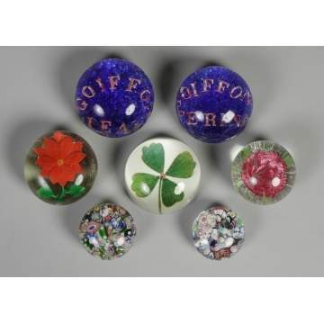 Group of 7 Paperweights