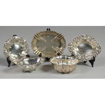 Group of 5 Silver Bowls
