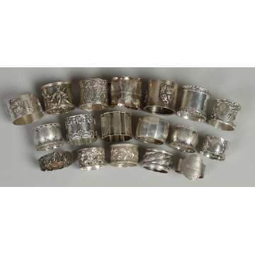 Group Sterling & silver napkin rings