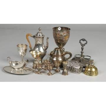 Group misc. silver plate