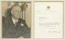 Don Stone Photo of Franklin D. Roosevelt & Sgn. Letter