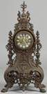 French Victorian Cast Bronze Shelf Clock