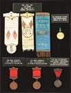 7 Grand Army of the Republic Medals/Badges