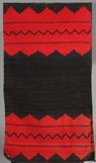 2 Panel Red & Black Navajo Women's Dress