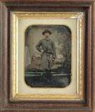 Full Plate Tin Type of a Union Cavalry Trooper