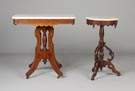 Victorian Walnut Marble Top Tables