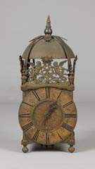 Early Brass Oversized 1-Hand Lantern Clock
