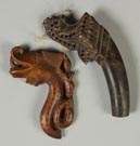 2 Cris Carved Tribal Handles from Java