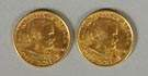 2 - 1922 Gold One Dollar Coins