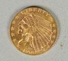 1908 Liberty Gold CoinTwo & a Half Dollar Coin