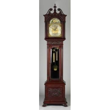 Tiffany & Co., NY, Carved Mahogany Tall Case Clock