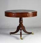 George III Mahogany Drum Table w/Drawers