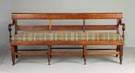 Unusual NY Tiger Maple Settee
