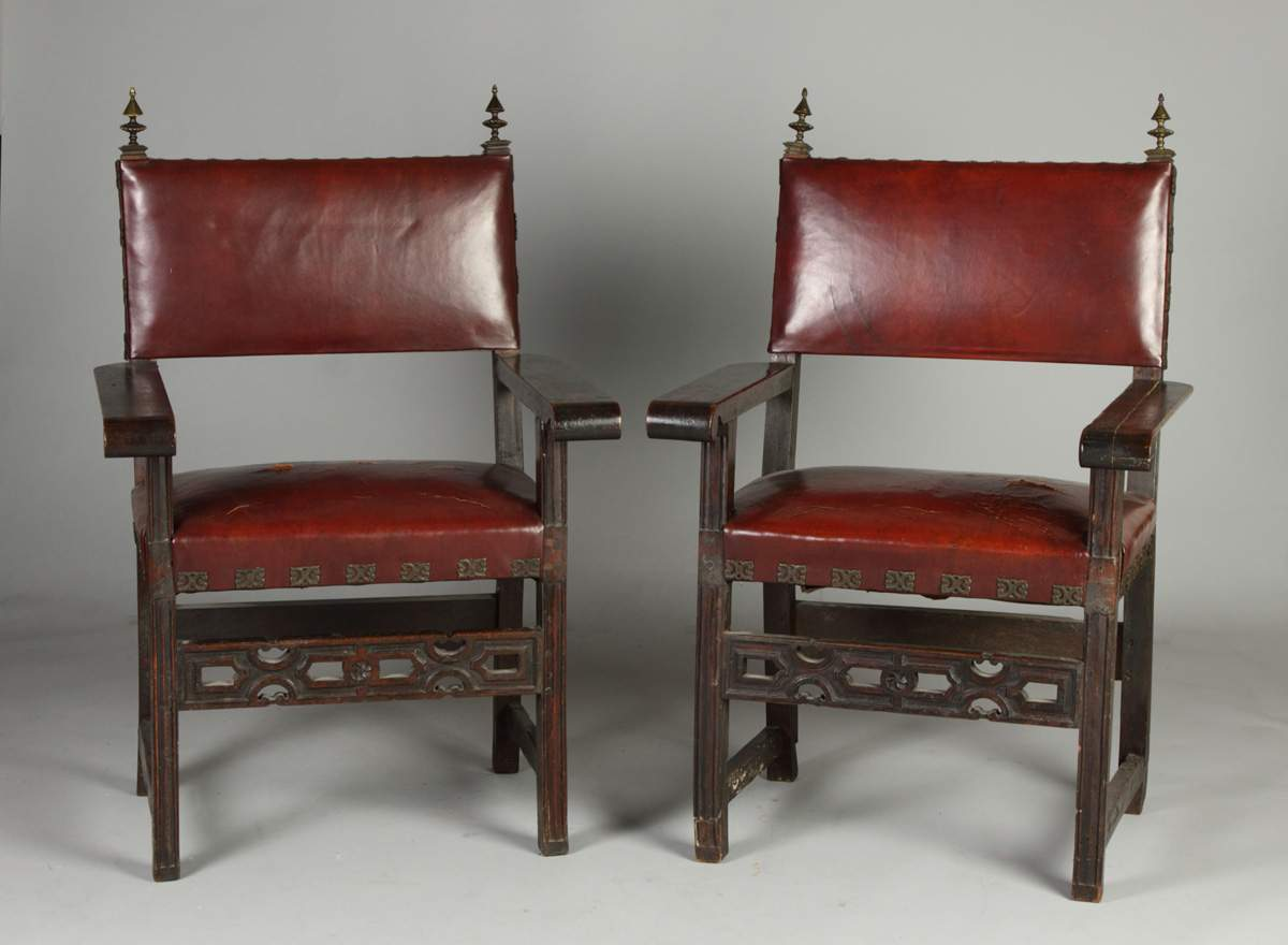Pair of Spanish Colonial Chairs - Pair Of Spanish Colonial Chairs Cottone Auctions