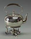 J. Garrard of London Sterling Silver Teapot on Burner