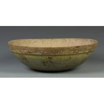 Early 19th Cent. Turned & Painted Burl Bowl