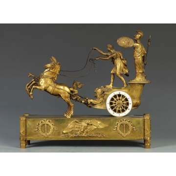Fine Tiffany & Co., NY, Classical Gilt Bronze Clock