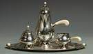 Fine Woodside Sterling Co., NY, 3 Pc. Sterling Silver Tea Set w/Tray