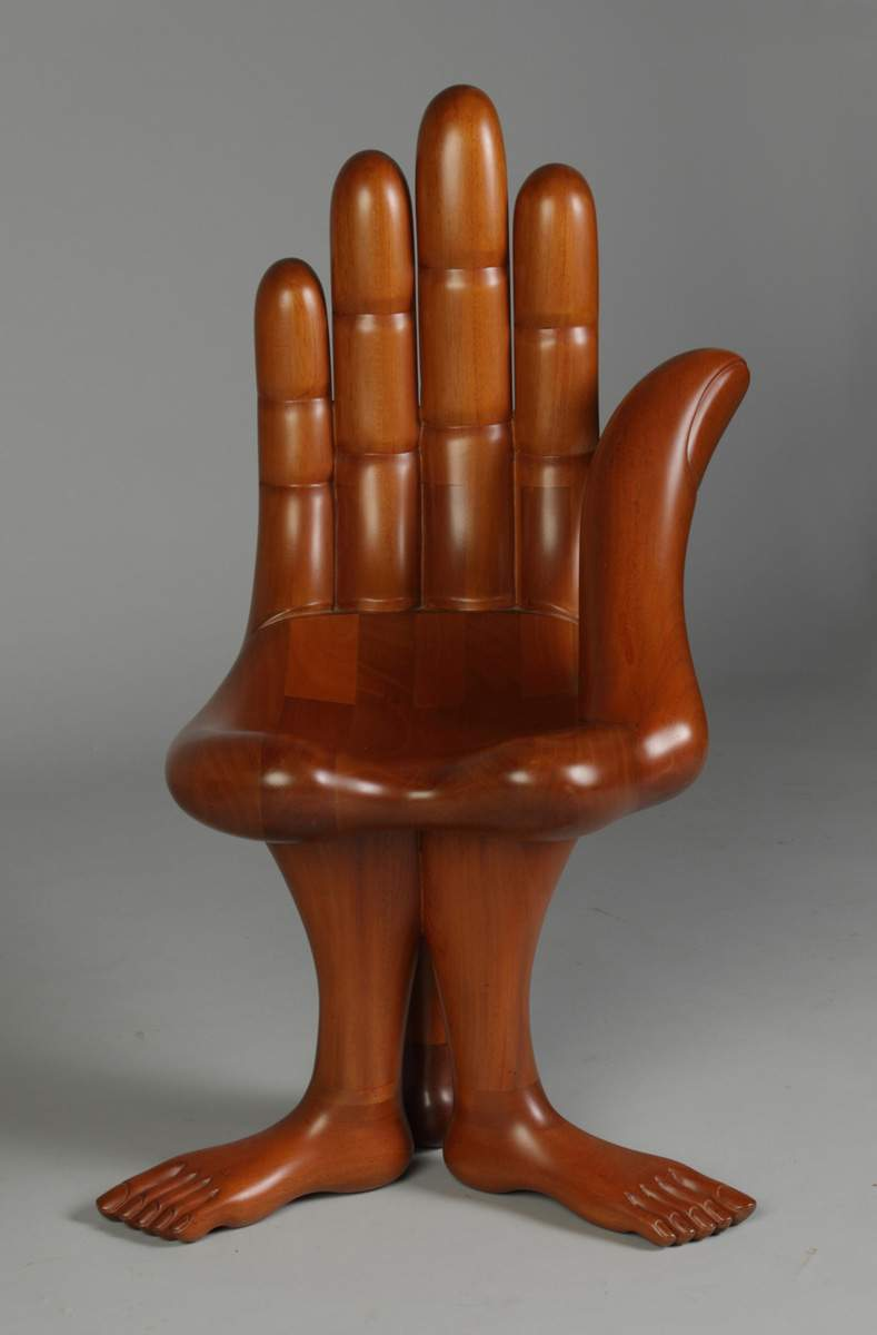 Pedro Friedeberg (Mexico) Hand \u00263 Feet Chair | Cottone Auctions