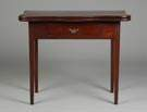 18th Cent. Chippendale Serpentine Top Card Table w/Drawer