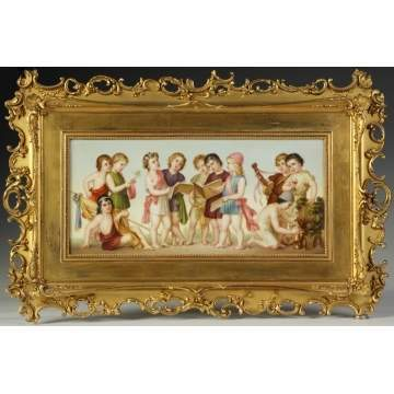 Fine Vienna Porcelain Plaque of Children