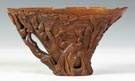 Early Carved Rhinoceros Horn Libation Cup