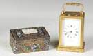 Enameled Box & Carriage Clock